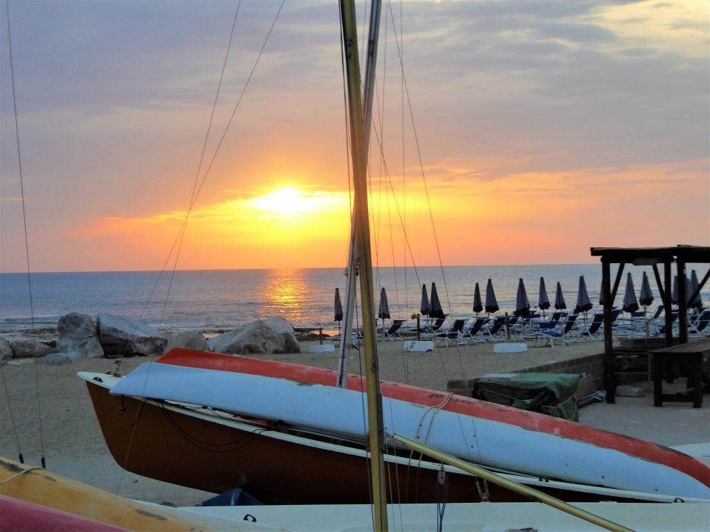 Sonnenuntergang Strand Vada Toskana