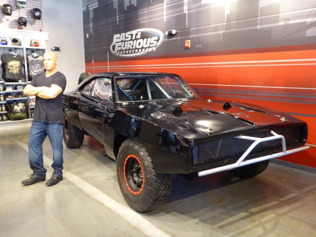 Auto im Fast & Furious Shop des neuen Rides