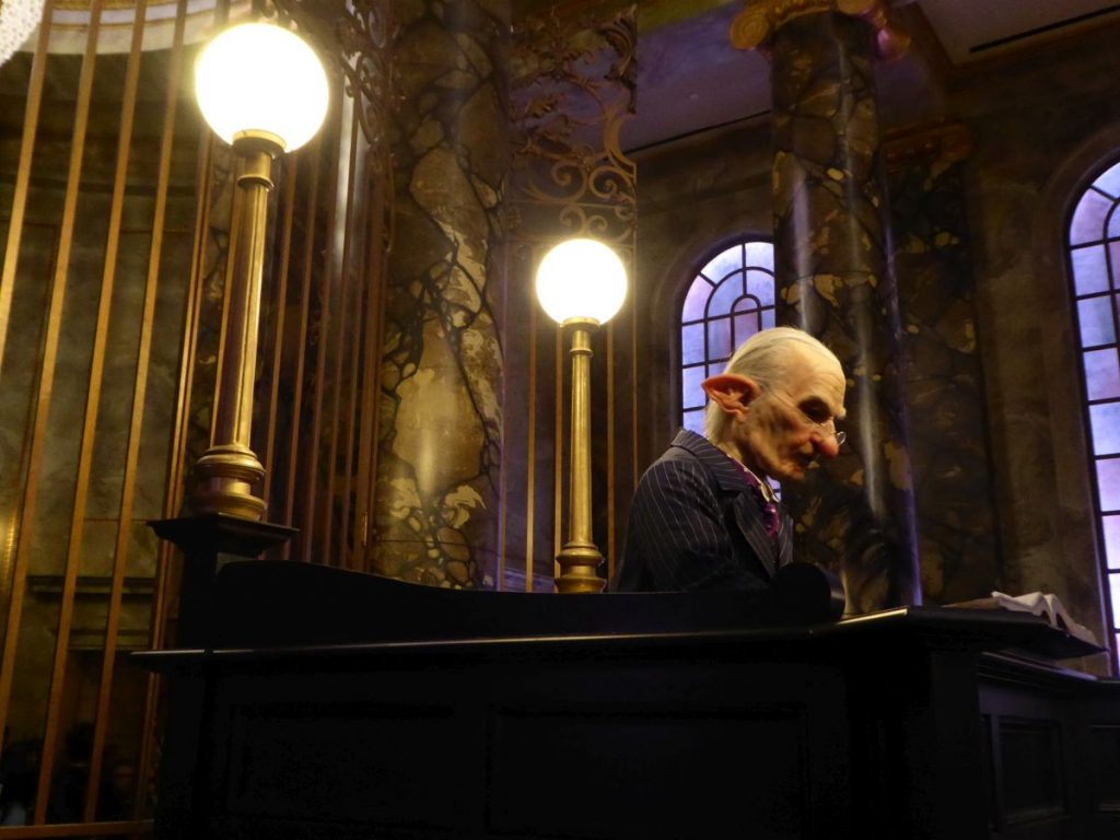 Animierter Goblin in Gringotts Bank