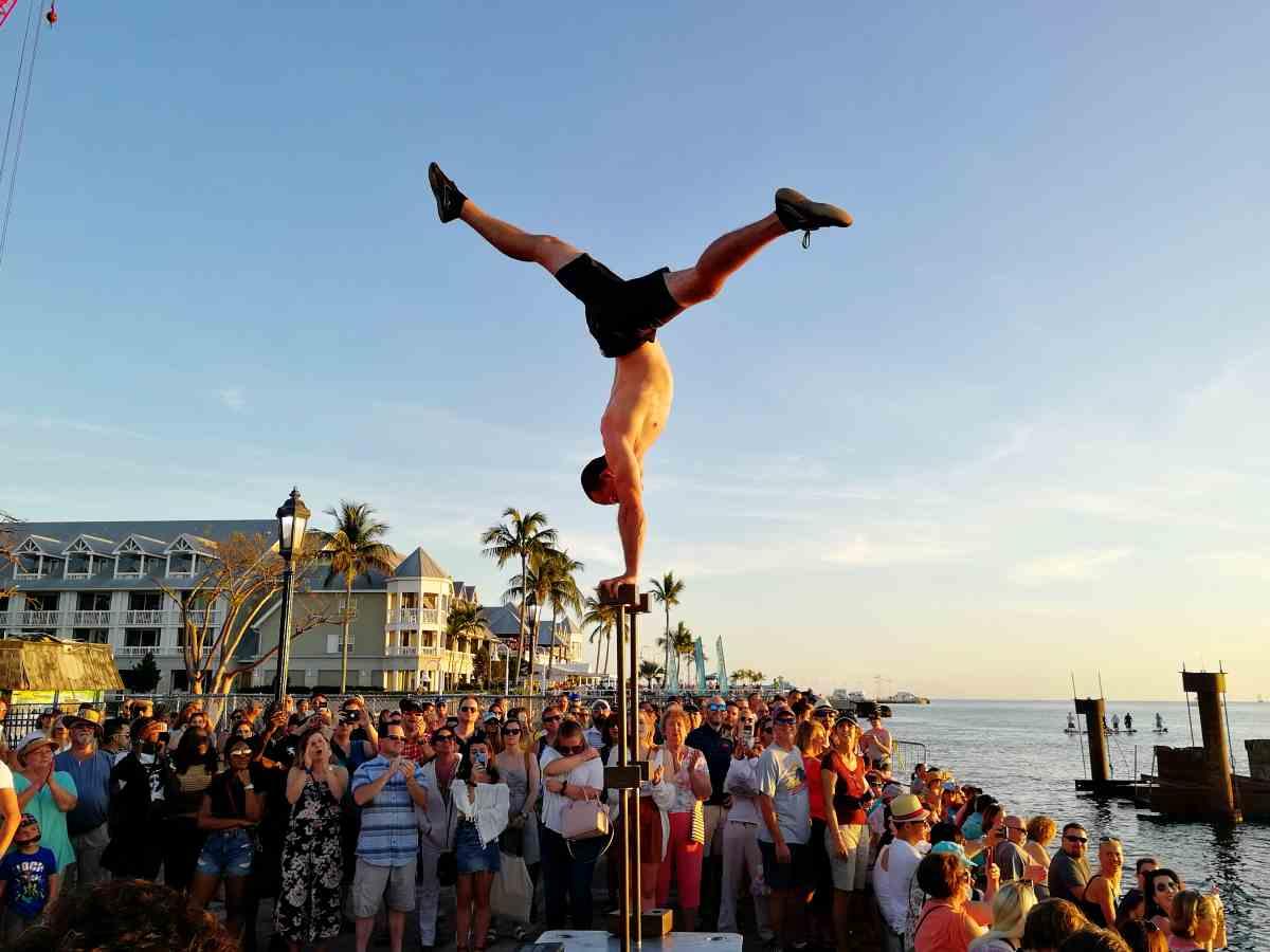 Street Performer bei der Sunset Celebration