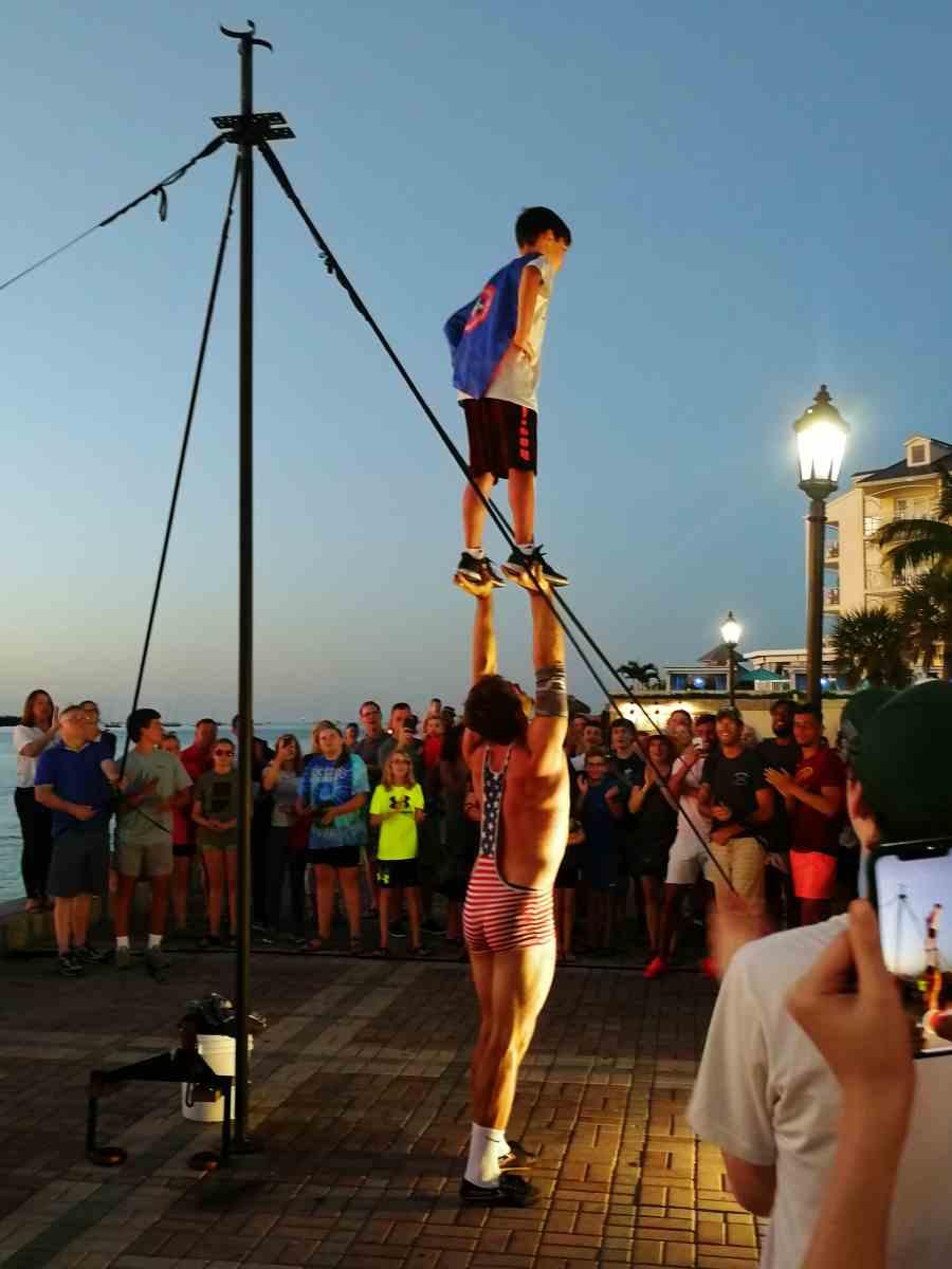 Street Performer bei der Sunset Celebration in Key West
