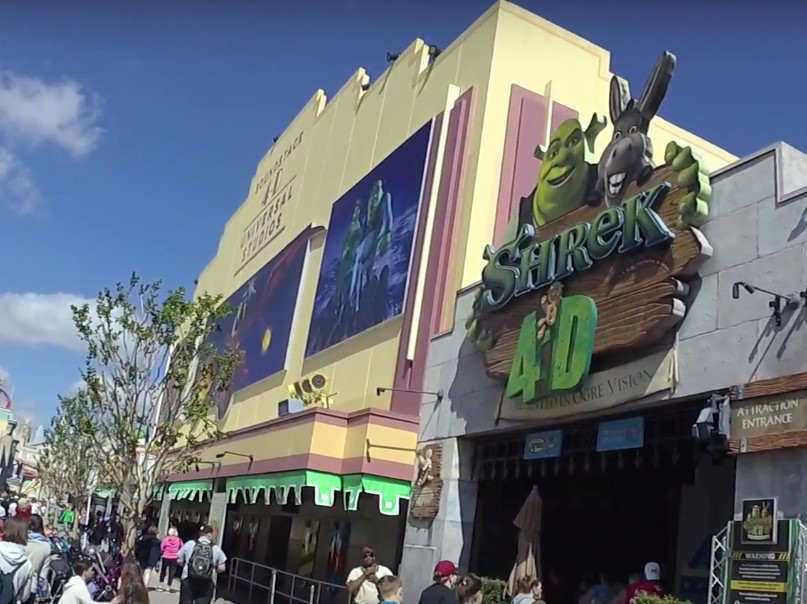 Der Shrek 4-D Ride in den Universal Studios Florida