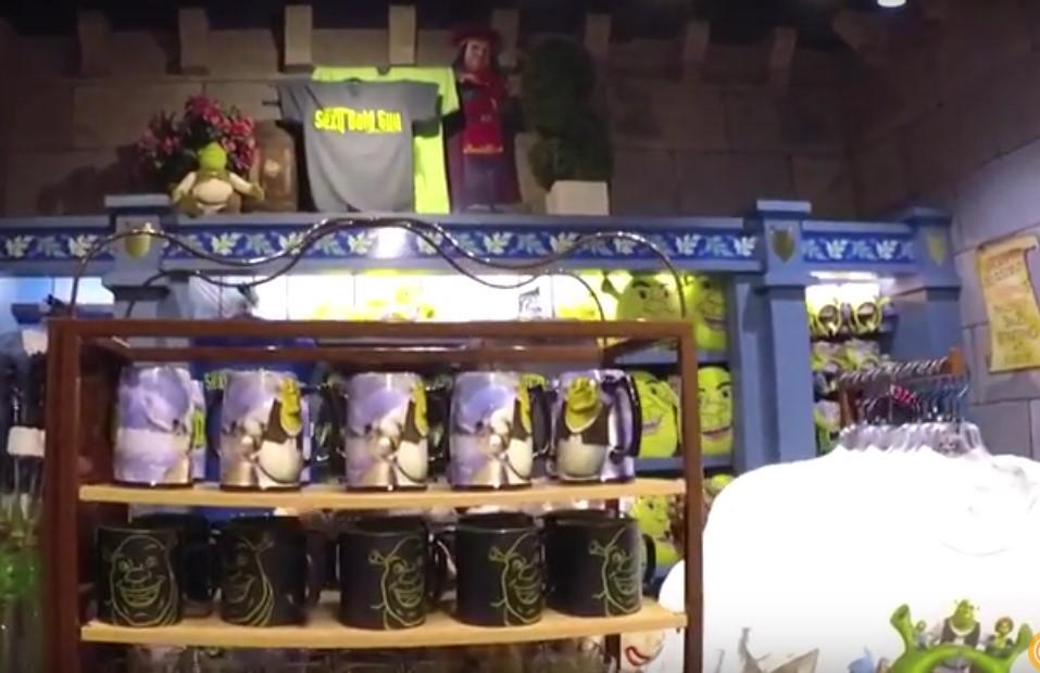 Der Universal Shop von Shrek innen