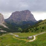 Das Grödner Joch in den Dolomiten