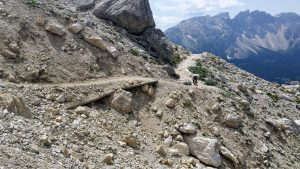 Der Hirzelsteig in den Dolomiten
