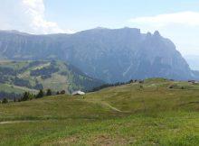 Panorama auf der Seiser Alm in Südtirol
