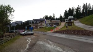 Parkplatz am Berglift Laurin