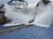 Die Wasserachterbahn Poseidon im Europapark Rust