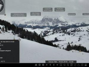 Webcam auf der Seiser Alm